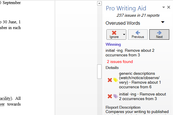 Pro Writing Aid Office Toolbar