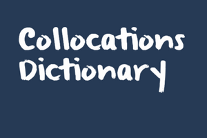free online collocation dictionary