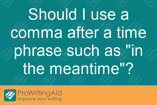 "Should I use a comma after a time phrase such as ""in the meantime""?"