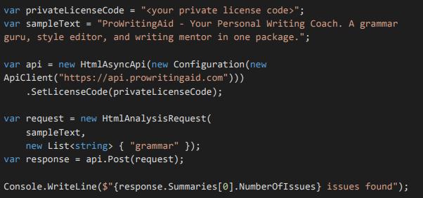 ProWritingAid API
